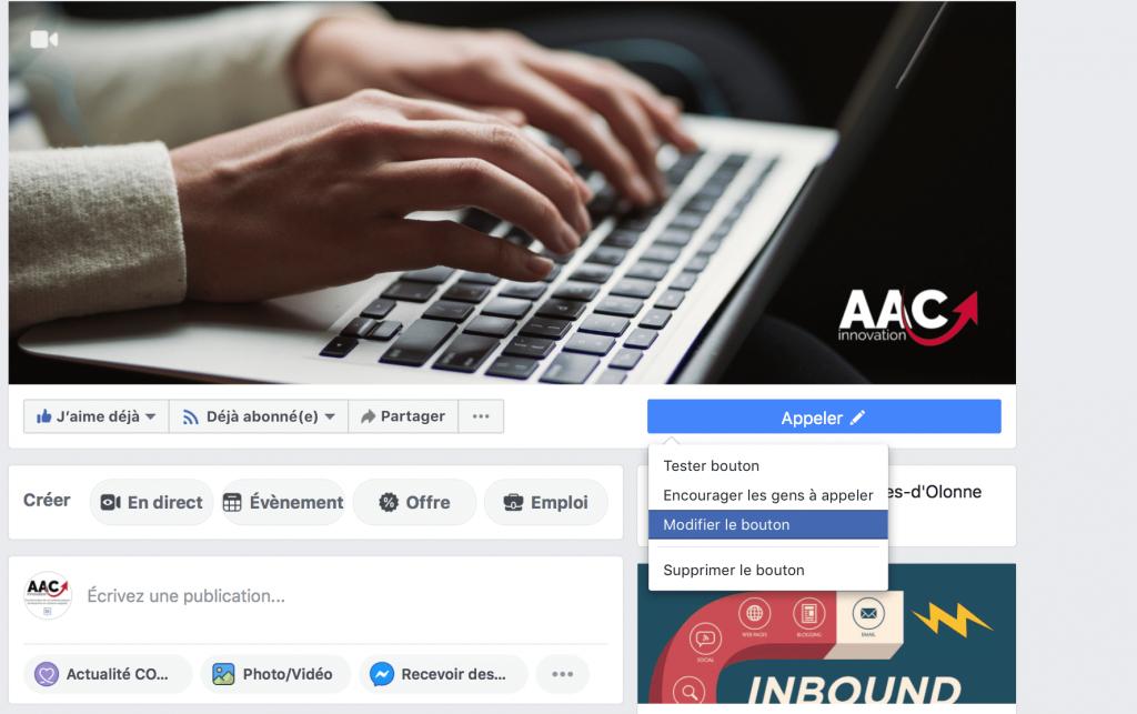 Activer la prise de rendez-vous directement sur Facebook